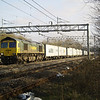 66588 passes Bradwell, MK with 4M20 Felixstowe - Lawley Street liner on 2nd March 2013
