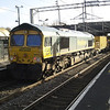 66617 on the rear of 6Y60 HOBC passing Wolverton on 27th Jan 2013