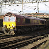 66167 leads 6O67 Daventry - Dollands Moor vans through Northampton on 16th March 2013