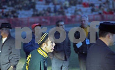 Bart Starr Packers vs. Rams. The LA Rams. Milwaukee County Stadium 1969 I think.