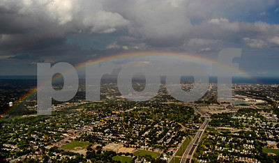 Rainbow Over Milwaukee, WI Aug 2012
