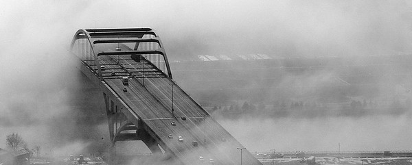 Hoan Bridge Fog Break