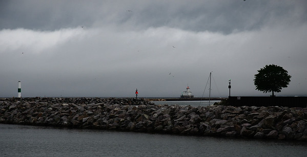 Breakwater Lighthouse Fog Bank
