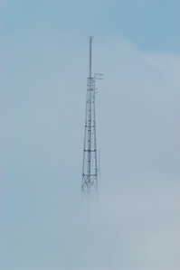 WITI TV tower in the fog. Briefly the tallest free standing tower in the world at 1,078 ft.