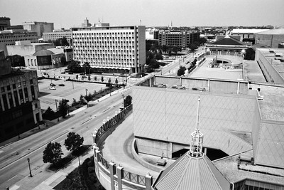 Milwaukee Cityscape on Black and White 35mm Film Photograph 123