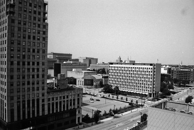 Milwaukee Cityscape on Black and White 35mm Film Photograph 115