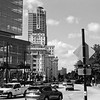 Milwaukee Cityscape on Black and White 35mm Film Photograph 141