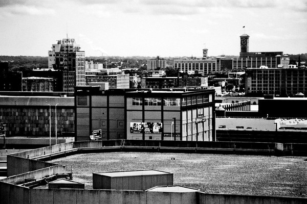 Milwaukee Cityscape on Black and White 35mm Film Photograph 112