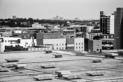 Milwaukee Cityscape on Black and White 35mm Film Photograph 120