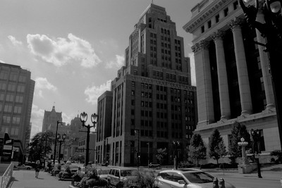 Milwaukee Cityscape on Black and White 35mm Film Photograph 146