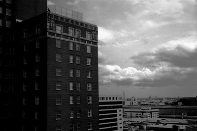 Milwaukee Cityscape on Black and White 35mm Film Photograph 109