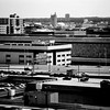 Milwaukee Cityscape on Black and White 35mm Film Photograph 111