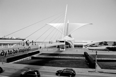 Milwaukee Cityscape on Black and White 35mm Film Photograph 140