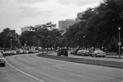 Milwaukee Cityscape on Black and White 35mm Film Photograph 26