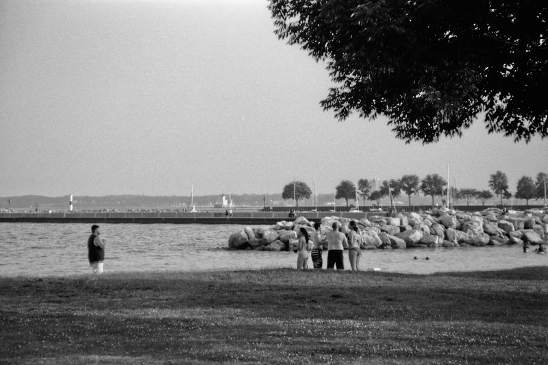 Milwaukee Cityscape on Black and White 35mm Film Photograph 25