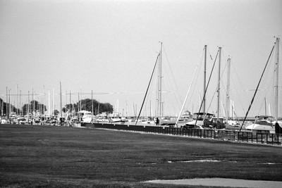 Milwaukee Cityscape on Black and White 35mm Film Photograph 33