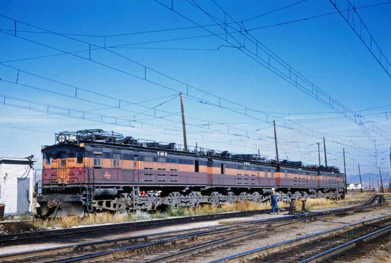 Milwaukee Road 5 - Aug 7 1962 - E49b E49d E49c E49a @ Butte MONT