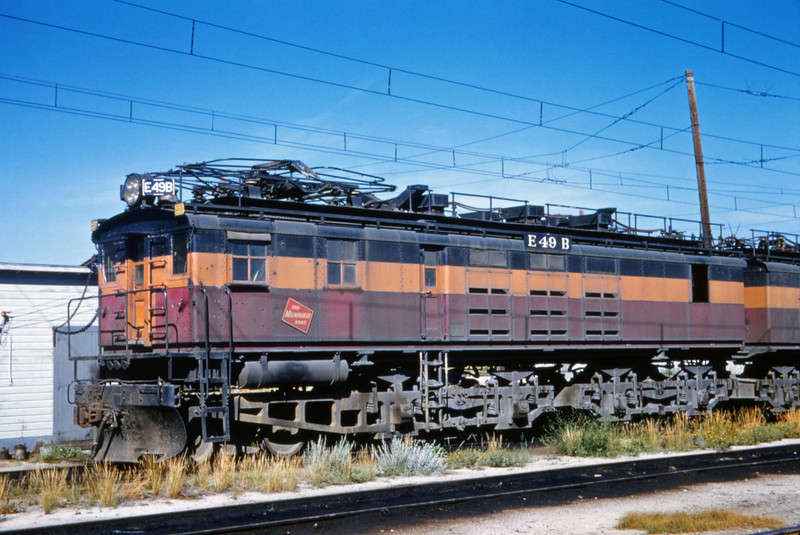 Milwaukee Road 7 - Aug 7 1962 - E49b @ Butte MONT