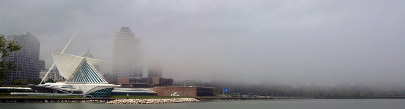 Fog moving in on downtown Milwaukee. May 2010 #2
