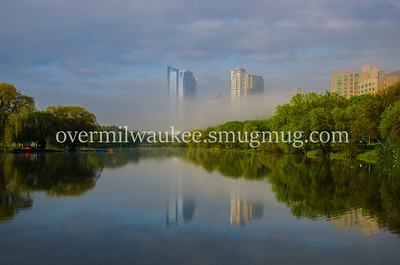 VETERAN'S PARK LAGOON FOGGY MORNING