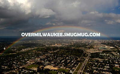 Rainbow over Milwaukee, WI August 20, 2012. It was quite a sight to see.