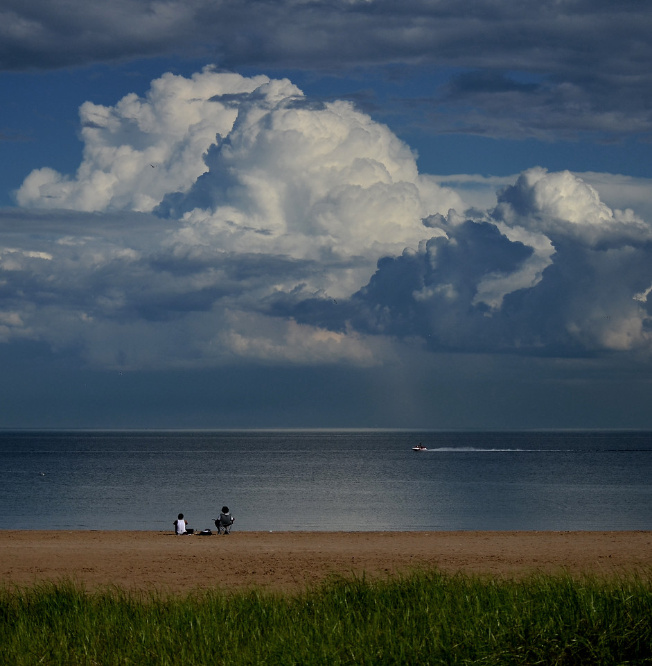 Days and days of beautiful cloudscapes this Summer. Bradford Beach late June 2013.