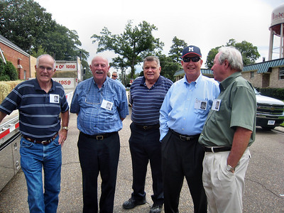 MHS Homecoming Parade and Class of 1959 Float - Sam Samuel, Galen Pratt, Alton Hortman, David Evans, Jerry Huckaby
