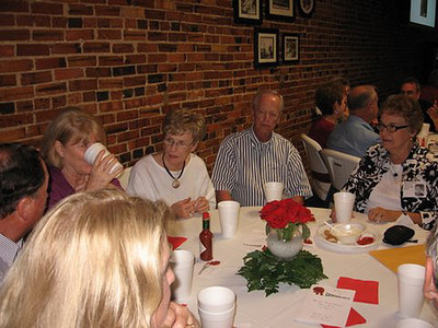 Photos by Barbara Larkin:  Jan Biles Randolph, Amos Randolph, Hilary Biles, Sandra Brewer Terry, Bob Terry, Mary Kay Norris