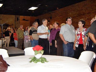 Photos From Sam Samuels:  Back to front: Linda Daniel, Bo Daniel, Doug Roberts, Jim Biles, Raymond Cline, Linda Sue King Cline, Sammy and Gladys Guthrie