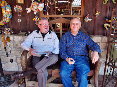 Gerry and Reagan relaxing at the Wild Seed Farm in Fredricksburg, Texas.