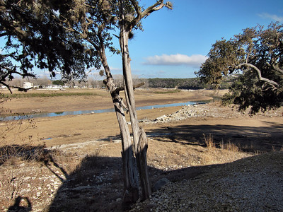 Medina Lake in Lakehills, Texas, is still very low.  Needs lots of water from rain which has not been happening.