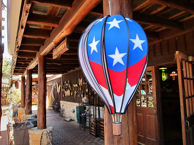 Patriotic balloons at the Wild Seed Farm in Fredricksburg, Texas.