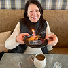 Donna Forlizzi of Topsfield celebrates a milestone and enjoys a delicious birthday treat compliments of the chef while visiting Miraval.