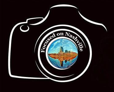Focused on Nashville Logo black background 2017+