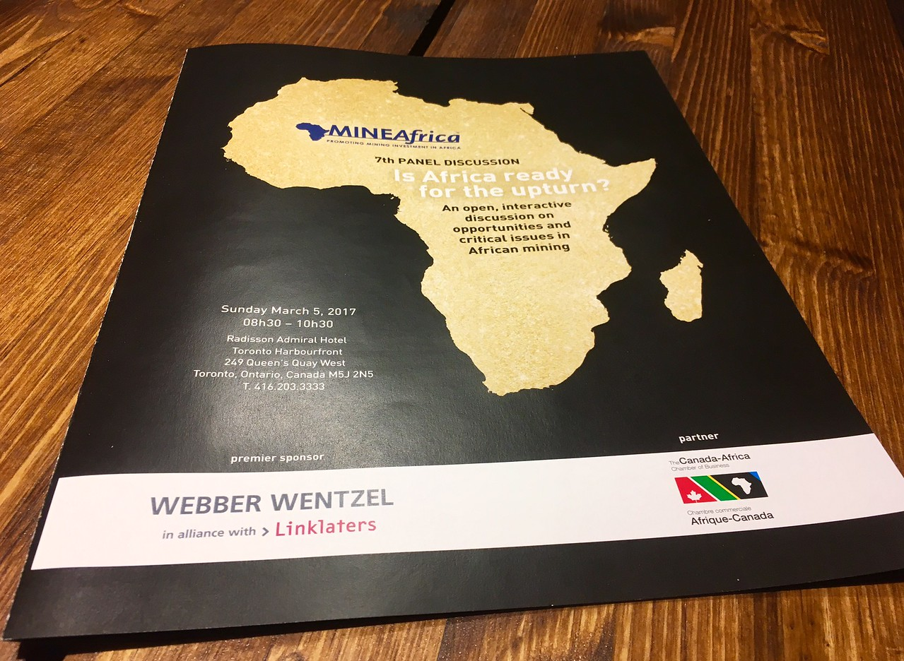 """Panel Discussion """"Is Africa Ready for the Upturn"""" - Mar 5 with Webber Wentzel"""