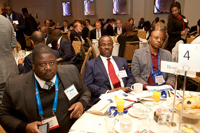 Namibia's Freddie !Gaoseb, Sulemanu Koney (ECOWAS Chamber of Mines), Brahima Sorgho (Burkina Faso Ministry of Mines)