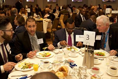 Ted Pugliese (City of Sudbury), Darren Naylor (SENET), Jonathan Veeran (Webber Wentzel), Walter McLean (Namibian Honorary Consul)