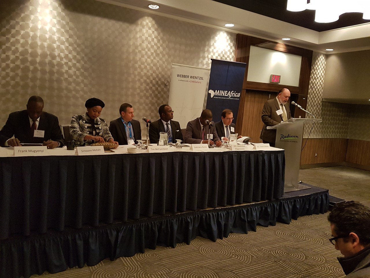 African Ministers and industry leaders in an open dialogue on current issues in African mining