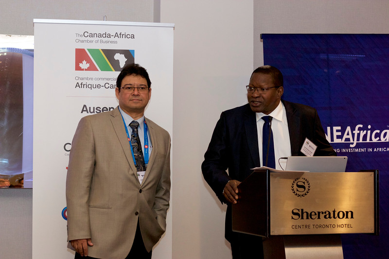 Andre Baya (Roxgold) and Issa Dominique Konaté, Special Mining Advisor to the President of Burkina Faso