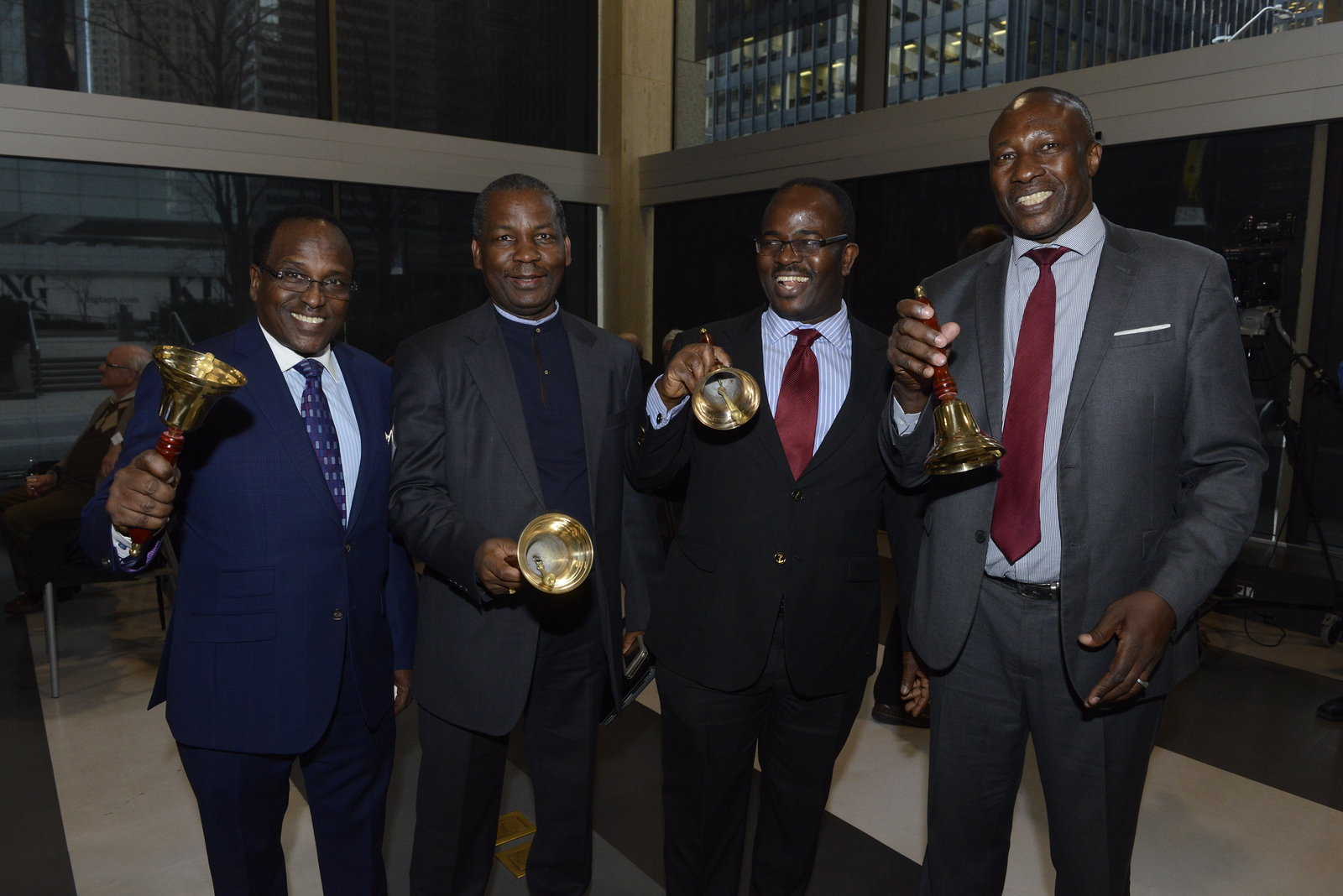 John Lanyasunya (Kenyan High Commissioner),  Simon Tuma-Waku (Mining Industry Association of Southern Africa),  Sulemanu Koney (ECOWAS Federation of Chamber of Mines), Frank Mugyenyi (African Union Commission)