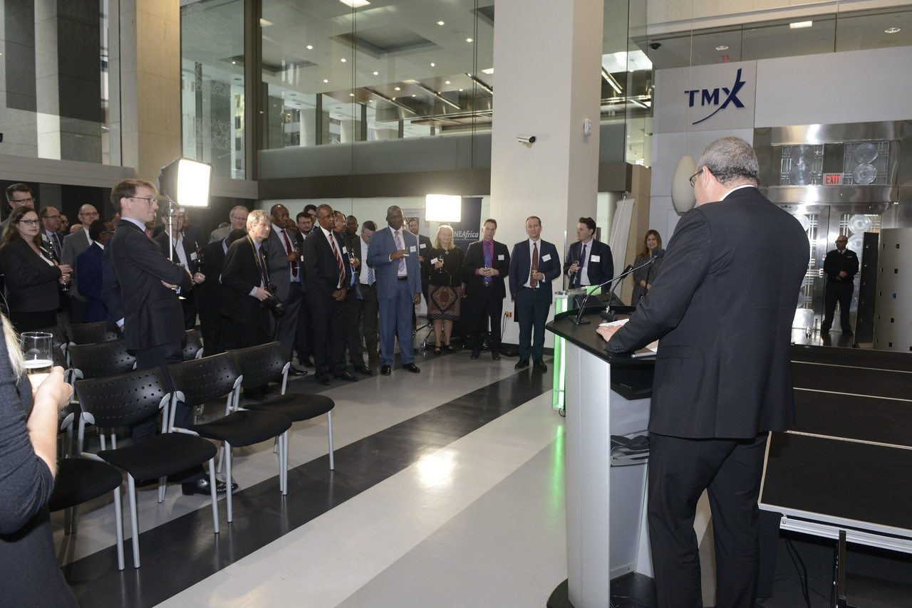 120 TSX and TSX Venture listed companies have projects in Africa