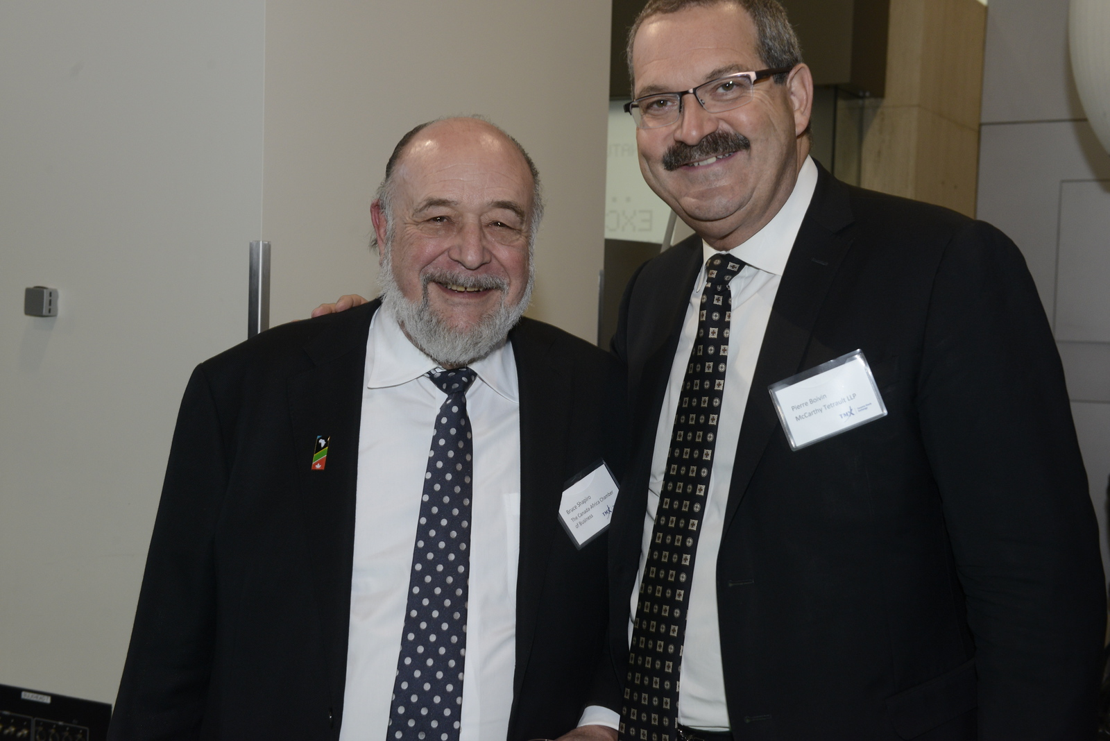 Bruce Shapiro (MineAfrica & The Canada-Africa Chamber of Business) and Pierre Boivin (McCarthy Tetrault)