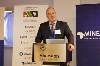 Keynote speaker John Dorward, CEO, Roxgold, debunks the myths of mining in Africa