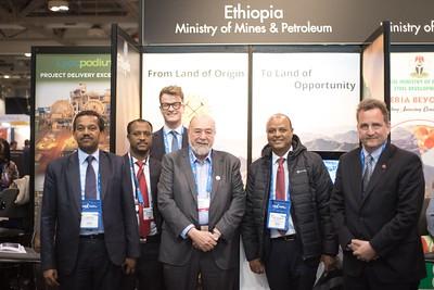 Legesse Haile & Berhane Gebremeskel (Ethiopian Embassy) Wayne & Bruce (MineAfrica), H.E. Minister Assefa Kumssa & Antoine Chevrier (Can. Ambassador to Ethiopia)