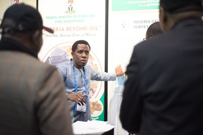Emmanuel Ojo busy in the Nigeria booth