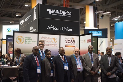 The large African Union delegation was led by H.E. Amb. Albert Muchanga (fourth from left)