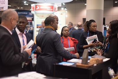 busy at the Guinea booth
