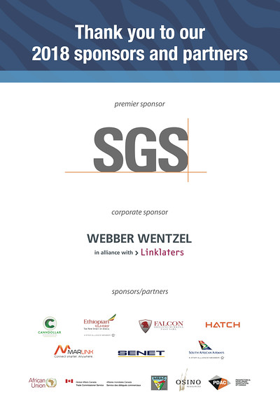 Thank you all of our sponsors and particularly Premier Sponsor SGS, for making it the biggest African mining event in North America