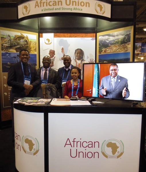 ...and the African Union (Vusi Mbanea, Sulemanu Koney, Veston Malango and Betelehem Tekelehana)