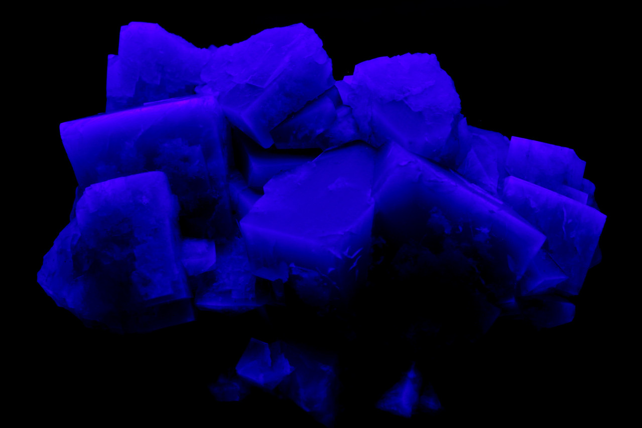 Fluorite under uv light